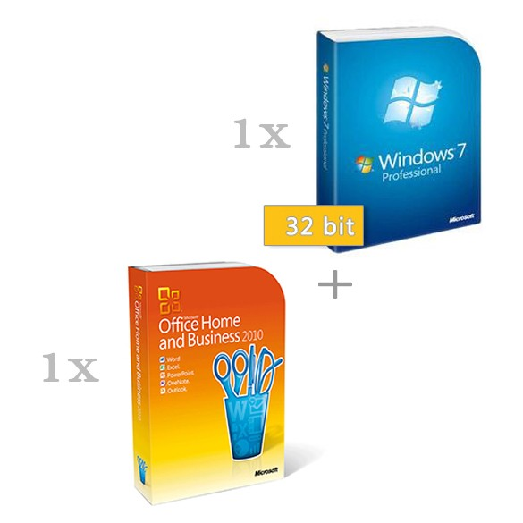 Microsoft Windows 7 Professional 32 bit magyar (HUN) + Microsoft Office 2010 Home & Business